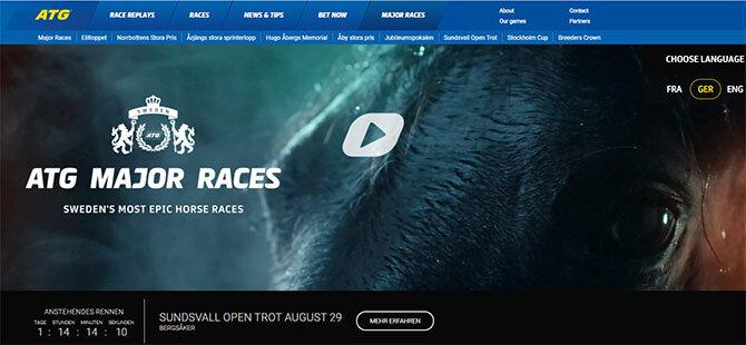 ATG Webseite Screenshot