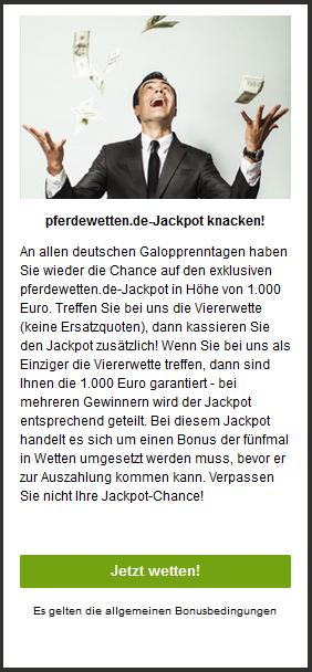 Pferdewetten.de Jackpot