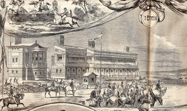 Rennbahn Iffezheim historische Ansicht